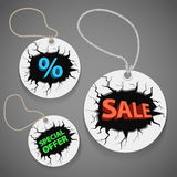 Discount shopping tags Stock Image