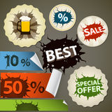 Discount shopping tags set Royalty Free Stock Images