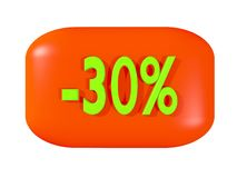 Discount sign -30% Stock Photo