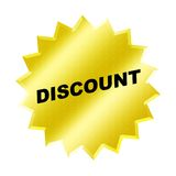 Discount sign. Yellow discount sign - web button - internet design Royalty Free Stock Photography