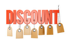 Discount sign Royalty Free Stock Photos