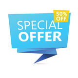 Discount sign with 50 percent offer. Royalty Free Stock Photography