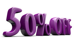 50% discount sign. Three-dimensional mark 50% discount Vector Illustration