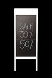 30 and 50 discount sign written with chalk Stock Images