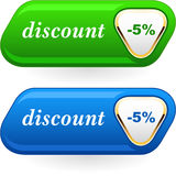 Discount signs Stock Photo