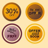 Discount and special offer labels vector illustration