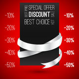 Discount. Special offer with ribbons. Hot sale Royalty Free Stock Photo