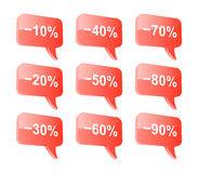 Discount speech bubbles. Royalty Free Stock Images