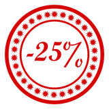 Discount stamp Royalty Free Stock Image
