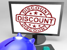 Discount Stamp Shows Promotion, Reduction And Clearance Royalty Free Stock Photo
