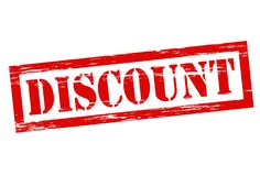 Discount. Stamp with word discount inside,  illustration Stock Photo