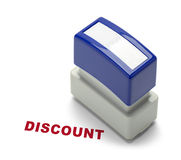 Discount Stamper. Business Discount Stamper Isolated on a White Background Royalty Free Stock Photo