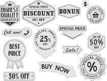 Discount stamps Stock Image