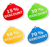 Discount stickers Royalty Free Stock Photography