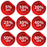 Discount stickers Royalty Free Stock Photo