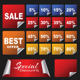 Discount Stickers pack Royalty Free Stock Photography