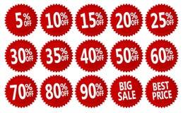 Discount stickers Stock Photo