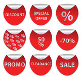 Discount Stickers set Royalty Free Stock Image