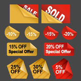 Discount Stickers Stock Photo