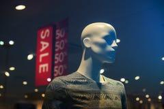 Discount store boutique mannequin, male figure portrait Stock Photo