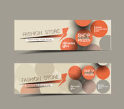 Discount Styled Website Banner Stock Photo