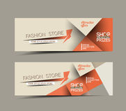 Discount Styled Website Banner Stock Photography