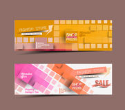 Discount Styled Website Banner Stock Images