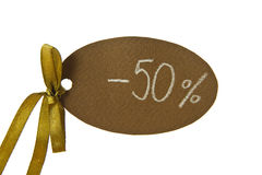 Discount tag Royalty Free Stock Photography