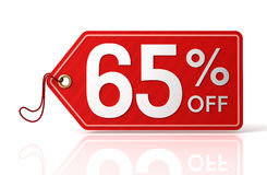Discount tag concept 3d illustration. 3d illustration of discount tag isolated on white  background Royalty Free Stock Photography