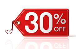 Discount tag concept 3d illustration. 3d illustration of discount tag isolated on white  background Royalty Free Stock Photos