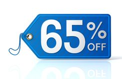 Discount tag concept illustration. 3d illustration of discount tag isolated on white  background Stock Image