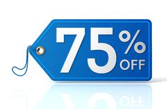 Discount tag concept illustration. 3d illustration of discount tag isolated on white  background Stock Photo