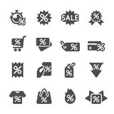 Discount tag icon set, vector eps10 Royalty Free Stock Photo