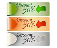 Discount tag label price Stock Image