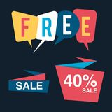 Discount tag with special offer sale sticker. EPS 10 and JPEG files Stock Photo