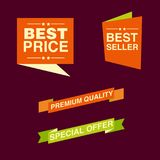 Discount tag with special offer sale sticker. EPS 10 and JPEG files Stock Photography