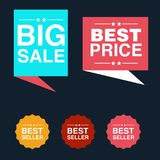 Discount tag with special offer sale sticker. EPS 10 and JPEG files Royalty Free Stock Photos