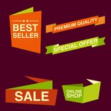 Discount tag with special offer sale sticker. EPS 10 and JPEG files Stock Images