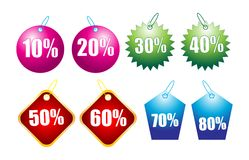 Discount tags Stock Photo