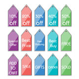 Discount tags Royalty Free Stock Image