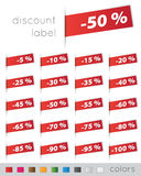 Discount tags. On white background Royalty Free Stock Photos