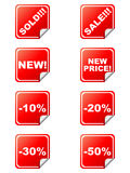 Discount tags. Isolated on white background - vector illustration Royalty Free Stock Photos