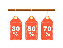 Discount tags for best sale proposition Royalty Free Stock Photography