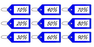 Discount Tags 3 Blue Royalty Free Stock Photos