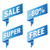 Discount tags and labels Stock Photos