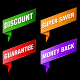 Discount tags and labels Royalty Free Stock Photography