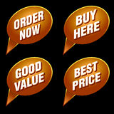 Discount tags and labels Stock Images