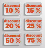 Discount text Stock Photography