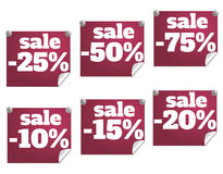 Discount text Royalty Free Stock Images