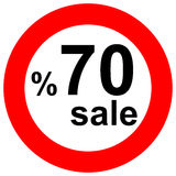 Discount traffic signs Stock Photo